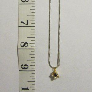 VINTAGE Girls' Black & White Pearl Necklace
